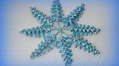 Новогодняя снежинка и Ёлочка. Очень простой способ плетения оригинальной снежинки ёлочки.
