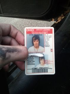 Andy's (old) drivers license.....I just had to post this, since I'm so proud to be from Ohio too, lol