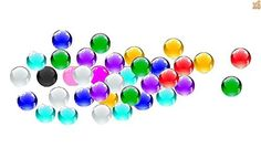 niceeshop(TM) Crystal Water Gel Beads Jelly Water Pearl For Centerpiece Wedding Vase Filler (Mixed Colors,6 Bags) by niceeshop