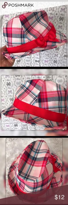 Gymboree Toddler Girl Fedora Pink Plaid Hat 4T Cute Fedora. Gently used with no flaws. Very clean Gymboree Accessories Hats