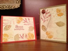 Gratitude/thanksgiving cards using  Stampin Up! products