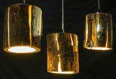 Cúpulas de madeira para luminárias