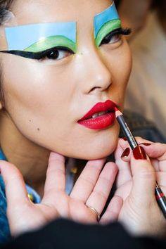 A/W 2011 Haute Couture: Christian Dior; Makeup – Pat McGrath