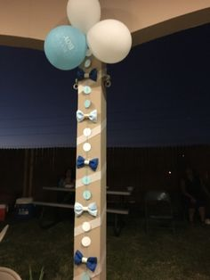 Bow tie garland for Little Man theme baby shower