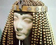 Headdresses and crowns were very popular especially with royalty - the headdress have significance and bring a message about the wearer. The pharaohs are always represented wearing crowns, but whether this is a pictorial convention or whether they did so in every day life can not be decided.