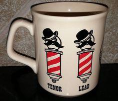 S.P.E.B.S.Q.S.A. Barbershop Quartet Vintage Coffee Mug Made in England Graphic