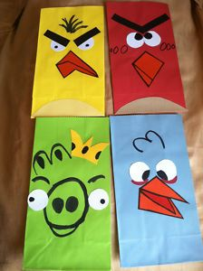 Goody bags for Angry Birds party