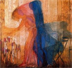 Woman Picking Flowers - Frantisek Kupka.  Art Experience NYC  www.artexperiencenyc.com
