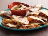 Chorizo and Shrimp Quesadillas with Smoky Guacamole. Totally going to make this with some Pigeon Spice.