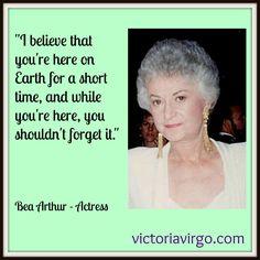 Beatrice Arthur | Bea Arthur – Quote Monday