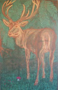 Waldorf ~ 4th grade ~ Human & Animal ~ Buck ~ chalkboard drawing
