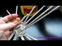 pletení z papíru Video-návod na vyplétané kulaté dno