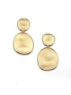 Marco Bicego - Lunaria 18K Yellow Gold Double-Drop Earrings
