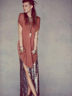 Blu Moon Mermaid Sequin Skirt at Free People Clothing Boutique