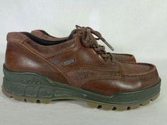 76da336c3eb36a ECCO Men s Track Moc Low Gore-Tex Brown Leather Walking Shoes Euro 42 8 US