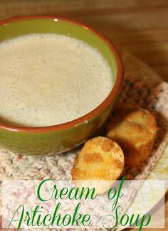 Cream of Artichoke Soup- silky, creamy, and delicious!