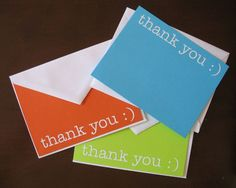 """Let's Bring Back The """"Thank You"""" Note."""