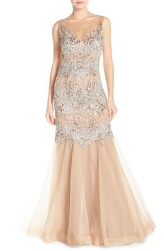 Terani Couture Embellished Organza Mermaid Gown available at #Nordstrom