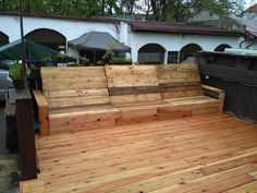 DIY couch pallet wood  outdoor