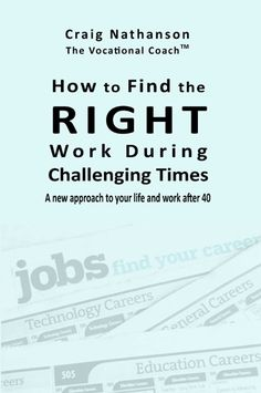 Find the Right work at turbulent times. http://www.thevocationalcoach.com/_store/finding-right-work-during-challenging-times.htm