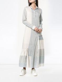 Shop Stella McCartney striped long sleeve dress from our collection. White Long Sleeve Dress, Long Shirt Dress, Day Dresses, Dresses With Sleeves, Patchwork Dress, Kurta Designs, Cotton Dresses, Dress Patterns, Pretty Dresses