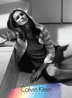 Edita Vilkeviciute in Calvin Klein Performance fall winter 2015 campaign Photoshoot