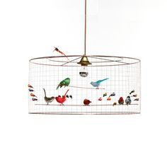 MATHIEU CHALLIERES, Suspension light semi-big birdcage lamp made by hand for contemporary house Large Pendant Lighting, Copper Pendant Lights, Chandelier Lighting, Pendant Lamp, Chandeliers, Birdcage Chandelier, Vintage Opulence, Ay Illuminate, Childrens Lamps