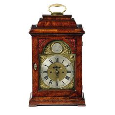 George II burr walnut bracket clock by John Pyke, London