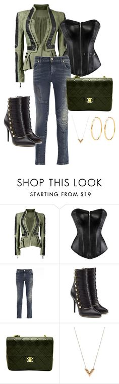 """Untitled #151"" by stylesbylex on Polyvore featuring Pierre Balmain, Balmain, Chanel and Louis Vuitton"