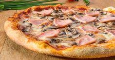 Recette de Pizza jambon, champignons et fromage simplissime. Facile et rapide à réaliser, goûteuse et diététique.