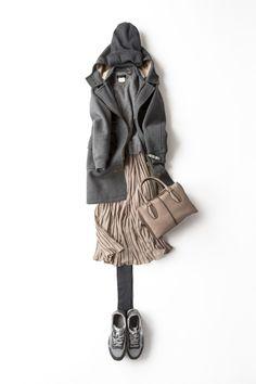 ハッピーな気持ちになる冬のニュアンスカラー 2015-01-09 | coat brand : Scye | skirt brand : no name