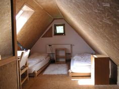 If you are lucky enough to have an attic in your home but haven't used this space for anything more than storage, then it's time to reconsider its use. An attic Attic Bedroom Decor, Bedroom Frames, Attic Bedrooms, Bedroom Loft, Attic Bathroom, Attic Renovation, Attic Remodel, Tiny Loft, Attic Loft