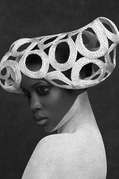 White headpiece.