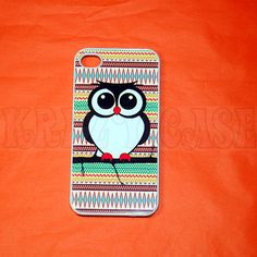 iPhone 4/4s case, The New iPhone, iPhone 4/4s casesc Aztec Trible pattern with cute owl iPhone 4 Case For your iphone 4/4s Black White