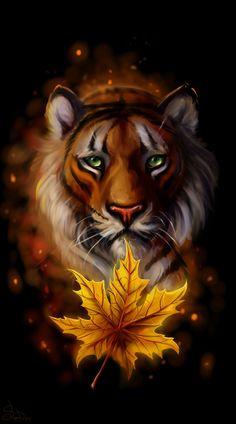 Autumn tiger by SalamanDra-S.deviantart.com on @DeviantArt