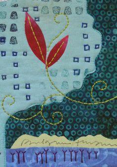 Nightfall, detail. Deborah Boschert art quilt