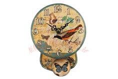 Shabby Chic, Clock, Boutique, Vintage, Home Decor, Watch, Decoration Home, Room Decor, Clocks