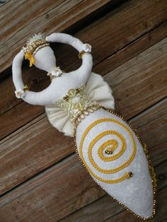 Goddess Art Doll Imbolc Pagan Hand Beaded Spiral OOAK Wiccan Altar Decor on Etsy, $107.88 CAD