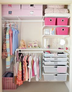 The Tween Wardrobe Makeover - The Organised Housewife - Organisation Station Girl Closet, Closet Bedroom, Bedroom Decor, Ikea Closet, Glam Bedroom, My New Room, My Room, Girls Closet Organization, Closet Ideas