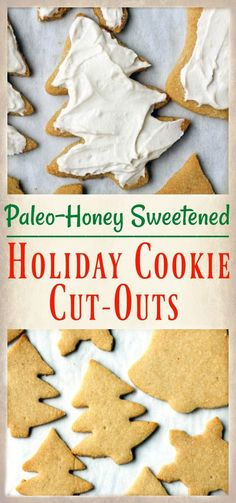 These Paleo Holiday Cookie Cut-Outs are easy to make and so delicious! They taste just like the traditional version, but made gluten free and are naturally sweetened. Perfect for Christmas baking.