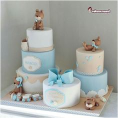 Teddy Bear Baby Shower, Baby Shower Cakes For Boys, Baby Boy Cakes, Baby Shower Parties, Baby Shower Themes, Baby Shower Decorations, Baby Boy Shower, Christening Invitations Boy, Teddy Bear Cakes