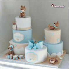 Baby Shower Cakes For Boys, Teddy Bear Baby Shower, Baby Boy Cakes, Baby Shower Parties, Baby Shower Themes, Baby Boy Shower, Teddy Bear Cakes, Baby Birthday Cakes, Baby Shower Gender Reveal