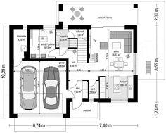 Projekt domu Rumba 130,27 m2 - koszt budowy 192 tys. zł - EXTRADOM Floor Plans, House Design, How To Plan, Modern, September, Bungalow, Plane, Villa, Architectural Plants