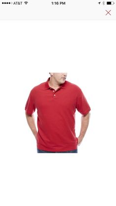 3XLT Red Polo By Foundry Men's NWT  | eBay