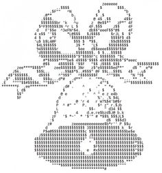 This could be a wedding bell too.  :) Christmas Ornaments, Bells and Candles in ASCII Art