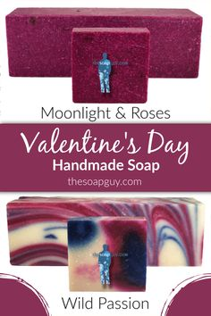 Looking for sometime to spice up your Valentine's Day?  The Soap Guy's ~Wild Passion~ Soap will do just the trick! Pair it with a bath bomb and lotion and you'll have some very happy sweethearts on Valentine's Day! Click through to see what other Valentine's Day scents we have. #handmadesoap #wholesalesoap #valentinesday