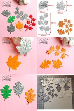 [Visit to Buy] Whole Set of Different Sizes Maple Leaves Metal Cutting Dies Stencils Embossing Craft DIY Scrapbooking Album Decorative Template #Advertisement