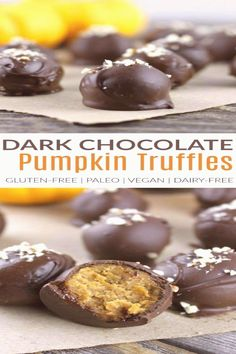 Rich and creamy pumpkin pie truffles made with wholesome ingredients. Grain-free, vegan and paleo-friendly and perfect for your next holiday gathering. Tap the link now to find the hottest products for your kitchen! Paleo Dessert, Coconut Dessert, Low Carb Dessert, Fall Dessert Recipes, Fall Desserts, Mini Desserts, Thanksgiving Desserts, Gluten Free Dairy Free Desserts, Dairy Free Thanksgiving Recipes