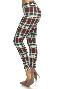 Love this plaid leggings for an outfit with a white sweater! Abby + Anna's Boutique has super soft leggings that come in girls ($13), one size ($15), and plus sizes ($17). There are tons of adorable matching mother and daughter leggings too.