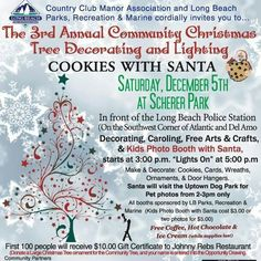 Scherer Park Conmunity Christmas Tree Decorating, 12-5-2015